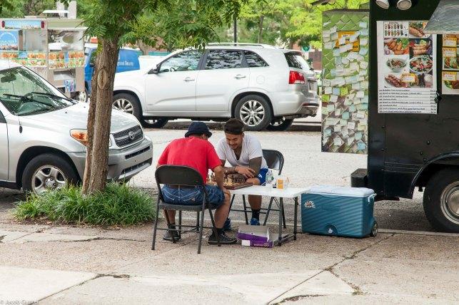 Straatverkopers, Philadelphia, USA