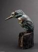 IJsvogel. Brons, gemaakt door Fiona Zondervan