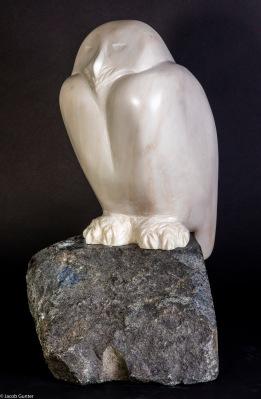 Uil, Marmer, gemaakt door Fiona Zondervan